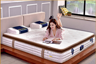 Customized Bonnell Spring Mattress / Luxury Pillow Top Mattress Hotel Furniture
