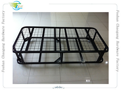 Durable Heavy Duty Metal Mesh Bed Frame , Iron Tube Platform Foldable Bed Base
