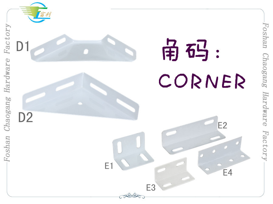 Angle Iron Bed Frame Accessories Metal Triangle Corner With Epoxy Powder Coated