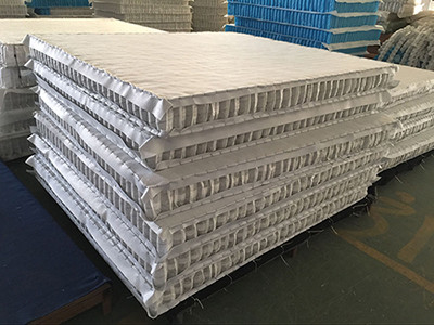 High Carbon Steel Wire Mattress Pocket Spring Unit With Compressed / Rolled Packing